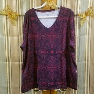 Long Sleeved Tunic with Paisley Print